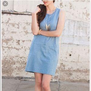 EVERLANE Chambray Shift Dress | Medium